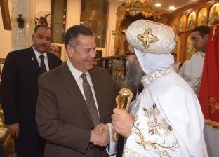 """مطران ببا يستدل بكتاب """"الشعراوي"""" في عظة عيد القيامةببني سويف"""