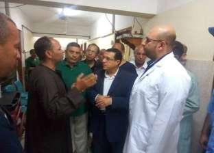 رئيس مركز ملوي في المنيا يتفقد الخدمات الطبية بالمستشفى العام