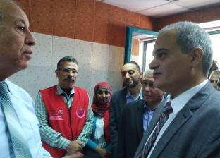 """توافد المواطنين على أماكن فحص """"100 مليون صحة"""" بالبحر الأحمر"""