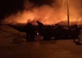 """السيطرة على حريق في """"قش الأرز"""" بكفر الشيخ"""