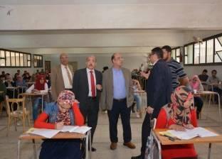 رئيس جامعة أسيوط يتفقد أعمال امتحانات الفصل الدراسي الثاني