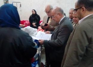 رئيس جامعة أسيوط يتفقد قسم الاستقبال العام بالمستشفى الجامعي