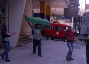 إزالة الإعلانات المخالفة بشرق الإسكندرية