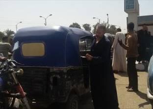 بالصور| أزمة بنزين طاحنة تضرب بني سويف