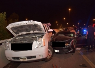 إصابة 4 أشخاص في حادث تصادم بين 3 سيارات بالمنيا