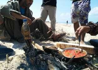 كورنيش العريش.. ملاذ الأسر من حرارة الجو في العيد