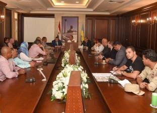 محافظ الإسكندرية يتابع أعمال مشروع تطوير مسار الترام بخط 36 برأس التين