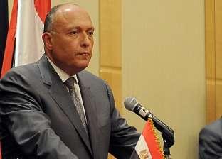 شكري: مشكلة الإرهاب لا يمكن أن تستأصل في ليبيا بدون تسوية سياسية