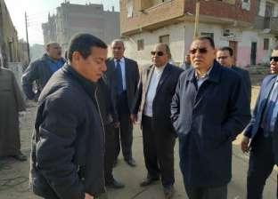 محافظ الشرقية يتفقد شوارع الزقازيق لمتابعة أعمال الرصف والتجميل