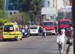 وصول مساعد أول مدير الأمن العام موقع حادث الدقي