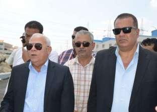 الغضبان يتفقد مشروع ترفيق 365 فدانا بالمنطقة الصناعية ببورسعيد