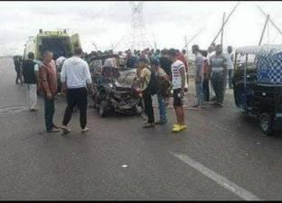 """إصابة 5 في انقلاب سيارة بطريق """"الضبعة ـ القاهرة"""" الإقليمي"""