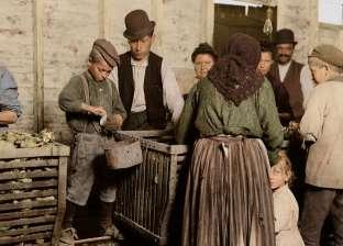 بالصور| لقطات نادرة لظاهرة عمالة الأطفال في أمريكا منذ 100 عام