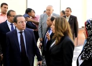"""بالصور : رئيس جامعة بني سويف يستقبل لجنة تقييم مسابقة """"أفضل جامعة"""""""