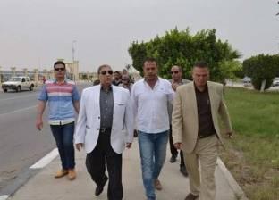 محافظ الإسماعيلية وكامل الوزير يتفقدان مشروع أنفاق قناة السويس الجديد