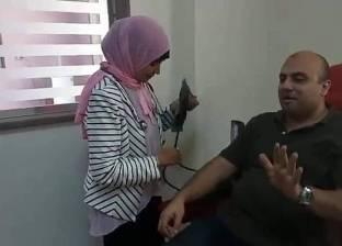 بدء التشغيل التجريبي لبنك الدم الجديد بمستشفى فوه في كفر الشيخ