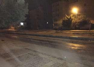 سقوط أمطار غزيرة على مدينة مرسى مطروح