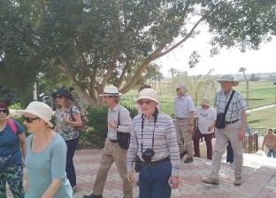 وفد سياحي من 6 دول يزور المناطق الأثرية بالمنيا
