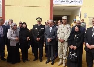 محافظ السويس يفتتح مدرسة الشهيد عمرو حامد