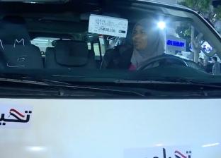 """سائقة الميكروباص التي صافحها السيسي تتسلم سيارة جديدة من """"تحيا مصر"""""""