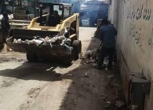 حملة موسعة لتطهير بالوعات سوق الخضار بعرب بورسعيد