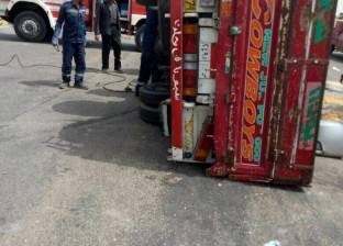 مصرع سائق وإصابة اثنين إثر انقلاب سيارة على الطريق الصحراوي بالبحيرة