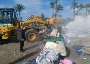 إزالة 6 حالات تعد في قرية الرياض بدمياط