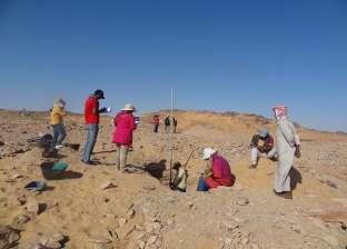 اكتشاف مقبرتين منحوتتين في الصخر بمنطقة الأغاخان بأسوان