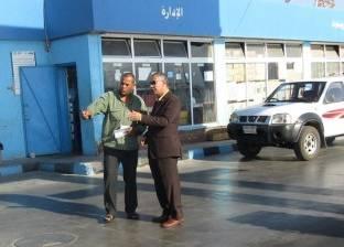 بالصور| رئيس مدينة أبورديس بجنوب سيناء يتفقد محطات الوقود