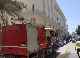 السيطرة على حريق داخل سوق قحافة بطنطا