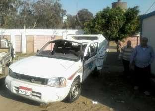 مصرع 3 عمال في حادث انقلاب سيارة نصف نقل بالغربية
