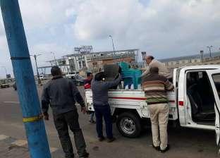 """""""وسط الإسكندرية"""" يشن حملة لإزالة التعديات على الطريق العام"""