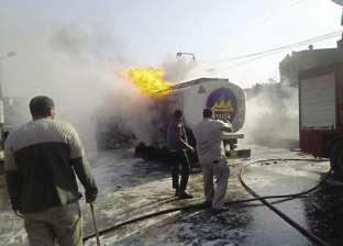 سائق ينقذ «القناطر» من كارثة بعد اشتعال سيارة بنزين