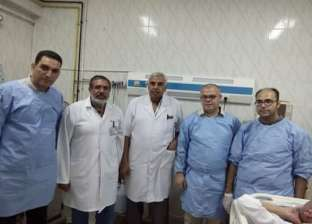 إجراء 5 عمليات كي أورام الكبد بالميكروويف في مستشفى حميات دمياط
