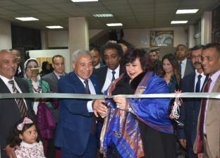 بالصور| وزيرة الثقافة تفتتح معرض أسوان للكتاب بقصر ثقافة العقاد