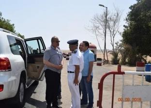 محافظ البحر الأحمر يتفقد الخدمات الأمنية بكمين مرسى علم الشمالـي