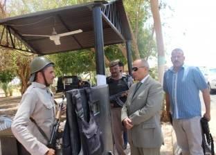 مدير أمن أسوان يتفقد إدارة قوات الأمن