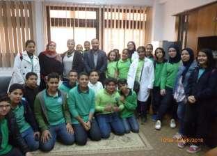 طلاب مجمع محمد السيد التجريبي في زيارة لمعامل كلية العلوم ببورسعيد