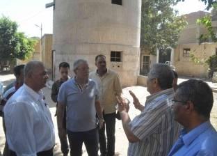 """محافظ المنيا: توسيع محطة شرب """"علي باشا"""" لحل مشكلات المياه في مركز مطاي"""