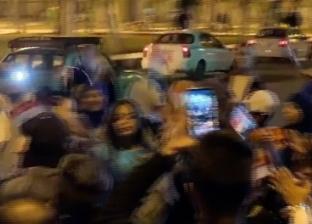 مواطنون في عابدين يحتفلون بالموافقة على التعديلات الدستورية