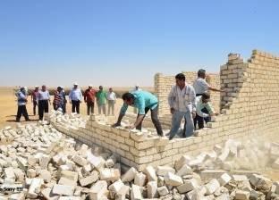 أمن مطروح: إزالة التعديات على 7490 فدان بأراضي أملاك دولة