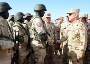 الفريق محمد فريد يشهد المرحلة الرئيسية لتدريب دول الساحل والصحراء