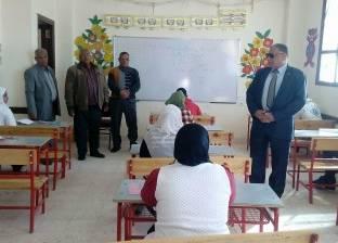 مدير إدارة الخارجة التعليمية يتفقد أعمال امتحانات الشهادة  الإعدادية