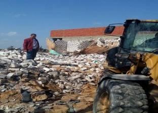 """إزالة 5 حالات تعد على الأراضي الزراعية بـ""""أبوالمطامير"""" في البحيرة"""