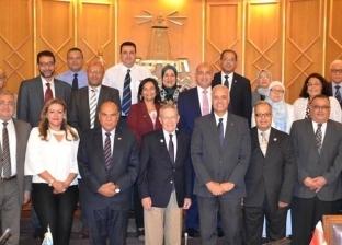 """عصام الكردي يستقبل رئيس جامعة """"أوشن كونتي"""" الأمريكية"""