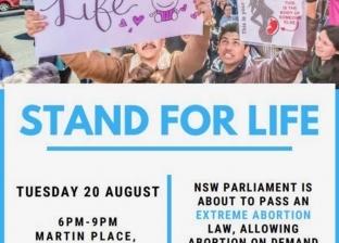"""""""وقفة للحياة"""".. وسيلة كنائس أستراليا لرفض قانون الإجهاض"""
