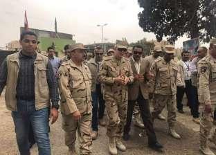 رئيس الأركان يتفقد قوات تأمين المجرى الملاحي لقناة السويس