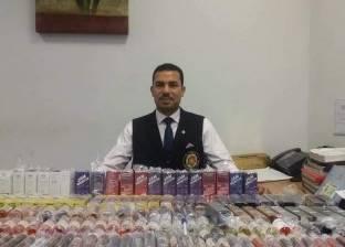جمارك مطار برج العرب تحبط تهريب 167 عبوة زيت شيش إلكترونية