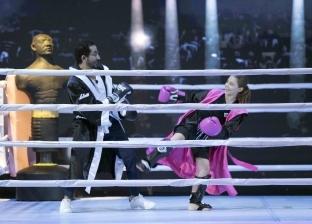 """أحمد حلمي يلعب """"كيك بوكسينج"""" مع فتاة أردنية على """"Mbc مصر"""""""