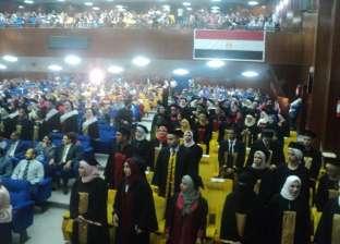 رئيس جامعة بنها يشهد حفل خريجي كلية الطب البيطري